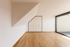 Dom, szeroki pokój z okno zdjęcie stock