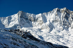 Dom and Taeschorn mountain peaks Stock Photography