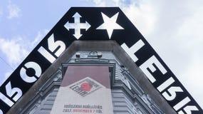 Dom terroru szczeg?? w Budapest obrazy royalty free