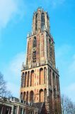 Dom Tower en Utrecht, Países Bajos Imagen de archivo