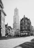 Dom Tower in het historische centrum van de stad van Utrecht Royalty-vrije Stock Foto's