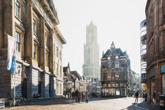 The Dom Tower in the historic center of the city of Utrecht Stock Images