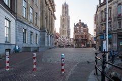 Dom Tower i Utrecht fotografering för bildbyråer