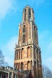 Dom Tower i Utrecht, Nederländerna Fotografering för Bildbyråer