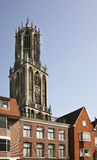 Dom tower in Utrecht. Netherlands Royalty Free Stock Photos