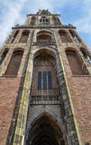 Dom Tower, Utrecht, the Netherlands. The Dom Tower (Cathedral Tower, Dutch: Domtoren) of Utrecht is the tallest church tower in the Netherlands, at 112.5 metres royalty free stock image