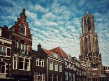 The Dom tower in Utrecht, the Netherlands Stock Image