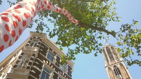 Dom tower Utrecht,  start Tour de France Royalty Free Stock Images