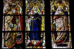 Dom van het gebrandschilderd glas van Keulen royalty-vrije stock afbeeldingen