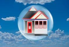 Dom w Bąblu w Chmurach ilustracja wektor