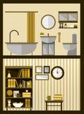 Dom w cięciu Szczegółowy nowożytny dom ilustracji