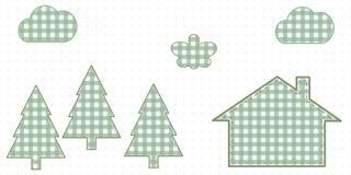 Dom w drewnach Śliczny dziecko styl Zdjęcia Stock