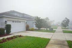 Dom w Florida z mgłą Zdjęcie Royalty Free
