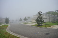 Dom w Florida z mgłą Obraz Royalty Free