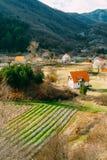 Dom w górach blisko poly Cetinje, Montenegro, aga Zdjęcia Royalty Free