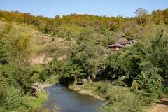 Dom w głębokiej dżungli Pai Thailand Fotografia Royalty Free