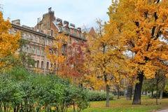 Dom w jesień parku Zdjęcie Royalty Free