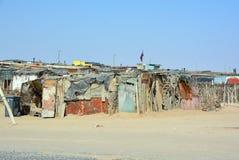 Dom w Mondesa slamsy Obrazy Royalty Free