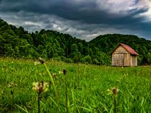 Dom w naturze zdjęcie stock