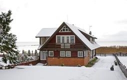 Dom w Nida baltic mierzeja brzegowa curonian denna Lithuania Zdjęcie Stock