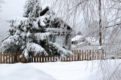 Dom w śniegu Obraz Stock