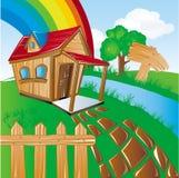 dom w ogrodzie Obrazy Stock