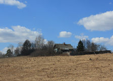 Dom w przegranej wiosce Obrazy Royalty Free