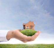Dom w ręce Fotografia Stock