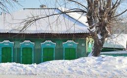 Dom w Rosyjskiej prowinci Fotografia Royalty Free
