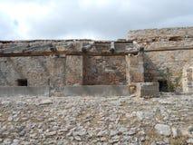 Dom w ruinach na wyspie lepreux w grzebieniu Zdjęcia Stock