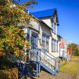 Dom w Seydisfjordur, Iceland Obraz Stock