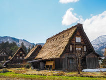 Dom w starym grodzkim Shirakawako Zdjęcia Stock