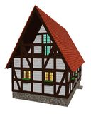 Dom w starym niemiec stylu ilustracja wektor