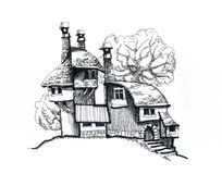 Dom w wiosce Zdjęcia Stock