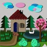 Dom w wiosce Fotografia Royalty Free