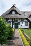 Dom w Wustrow, Darss, Niemcy Obraz Stock