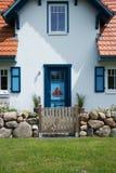 Dom w Wustrow, Darss, Niemcy Zdjęcia Stock