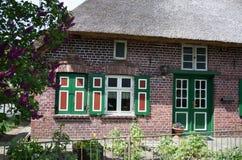 Dom w Wustrow, Darss, Niemcy Obrazy Stock