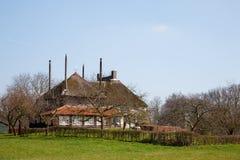 dom wiejski holenderski krajobraz zdjęcia royalty free
