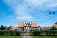 Dom wiejski na wyspie Oeland, Szwecja obraz stock
