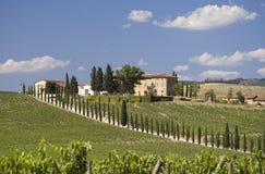 dom wiejski Tuscany obrazy royalty free