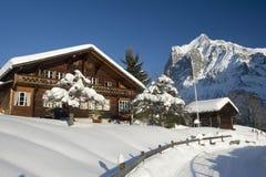 Dom wiejski w zima Zdjęcie Stock