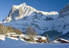 Dom wiejski w zima Zdjęcie Royalty Free