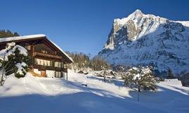 Dom wiejski w zima Obraz Stock