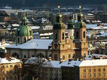 Dom in Winter. The dome of Innsbruck in Winter Royalty Free Stock Photography