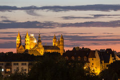 The dom worms germany in the evening Stock Image