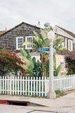 Dom wzdłuż balboa alei na balboa wyspie w newport beach, orange county, Kalifornia fotografia stock
