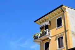 Dom z balcon obraz royalty free
