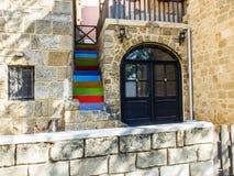Dom z kolorowym schody Zdjęcia Stock