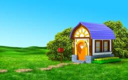 Dom z skrzynką pocztowa ilustracja wektor